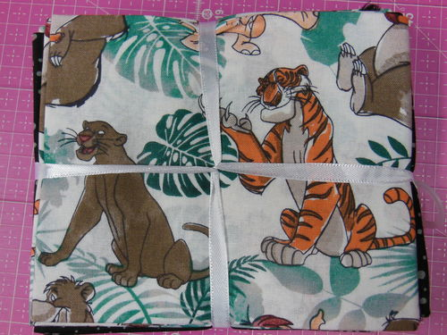 "5 Fat Quarter: Disney ""Jungle Book"" Dschungelbuch"