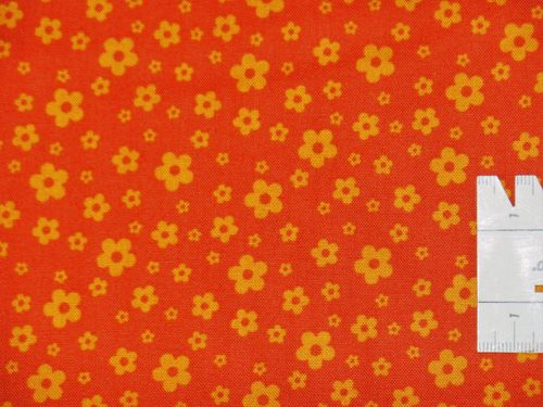 Sixties Blümchen Orange